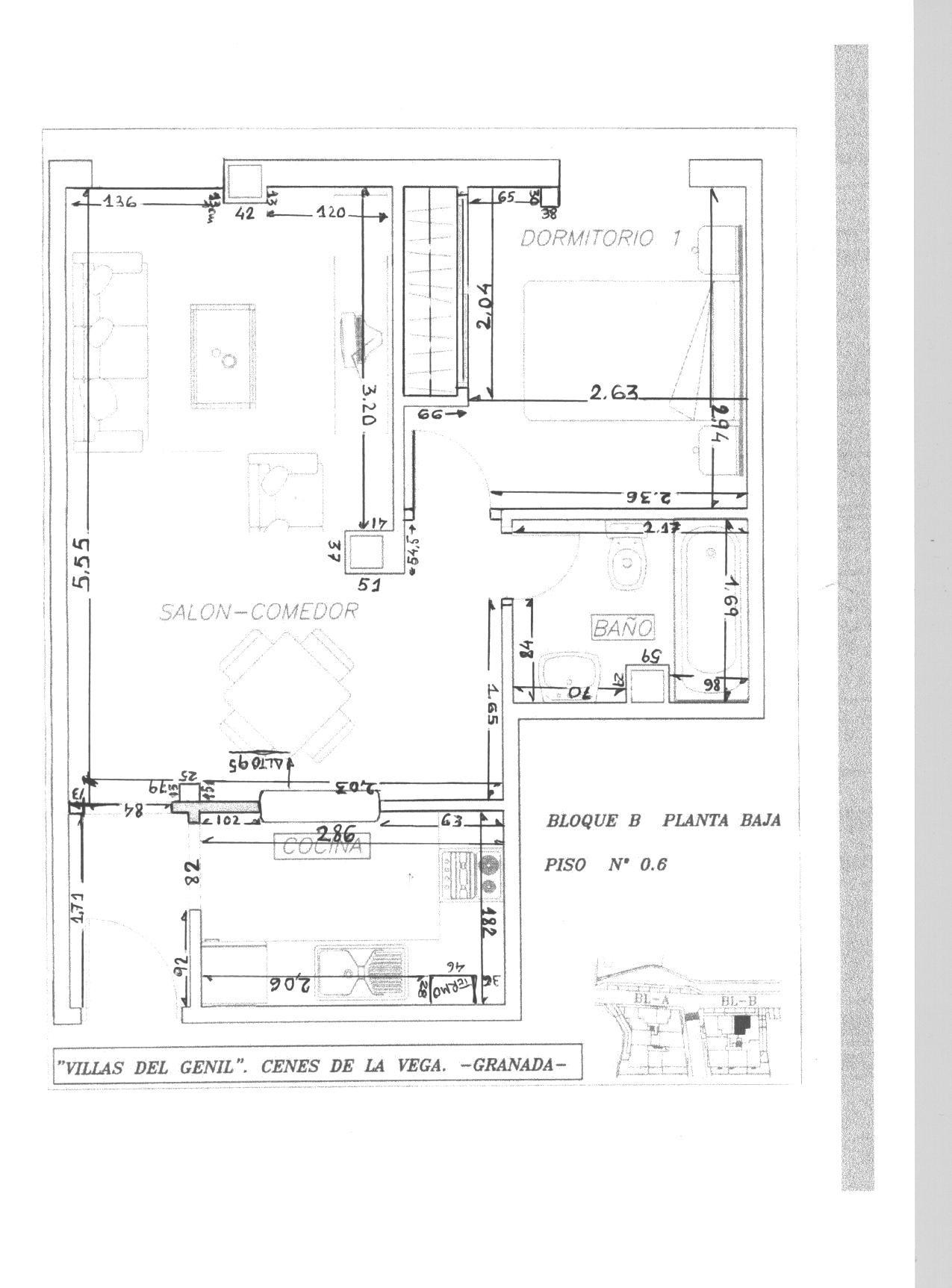 Vendo apartamento cenes de la vega granada deportes 92 for Libro medidas de una casa